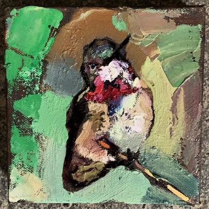 "Anna's Hummingbird 6""x6"""